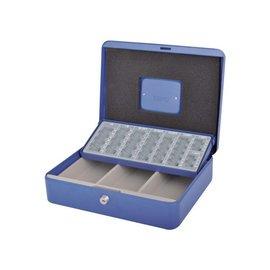 Pavo Geldkist Pavo met muntsorteerbak 300x240x90mm blauw