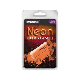 Integral USB-stick 2.0 Integral 32GB neon oranje