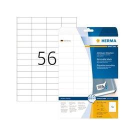 Herma Etiket Herma 5080 52.5x21.2mm verwijderbaar wit 1400stuks