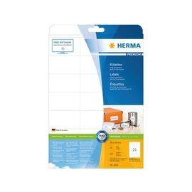 Herma Etiket Herma 4361 70x42mm premium wit 525stuks