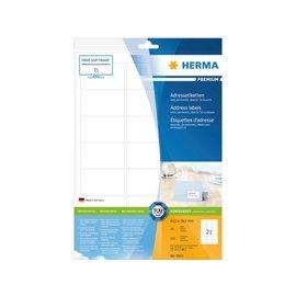 Herma Etiket Herma 8632 63.5x38.1mm premium wit 210stuks