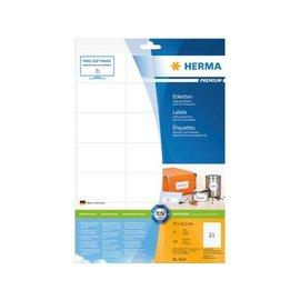 Herma Etiket Herma 8634 70x42.3mm premium wit 210stuks