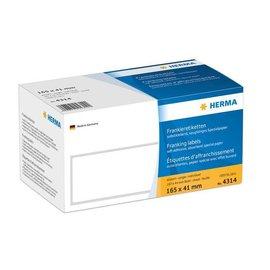 Herma Herma 4314 frankeer-etiketten enkel abziehlasche 165x41 1000 st.
