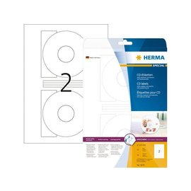 Herma Etiket Herma 8624 cd 116mm wit opaqua 20stuks