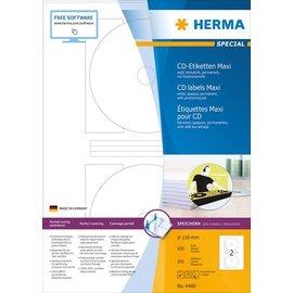 Herma Herma 4460 cd-etiketten maxi wit ø116 A4 200 st.