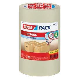 Tesa Verpakkingstape Tesa 50mmx66m transparant PP 3rol