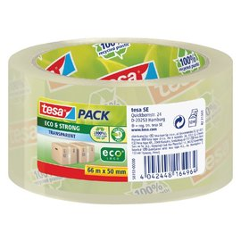 Tesa Verpakkingstape Tesa 50mmx66m Eco transparant