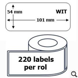 Budget Office Etiket Dymo 99014 label 54 x 101 mm compatible 220 stuks