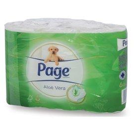 Page Toiletpapier Page Aloë Vera 2-laags 200vel wit 6 rollen