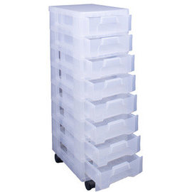 Really Useful Box Really Useful Box Opbergtoren 8 laden x 7 L transparant