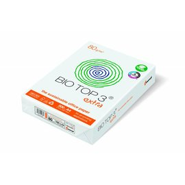 Bio Top 3 Halve Pallet kopieerpapier Bio Top 3 Extra A4 80g naturel wit