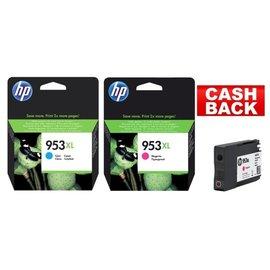 HP HP 953XL blauw & HP 953XL rood