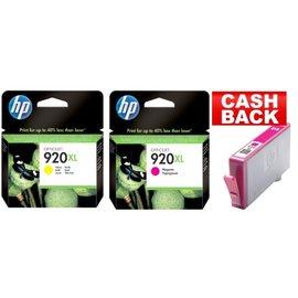 HP HP 920XL rood & HP 920XL geel