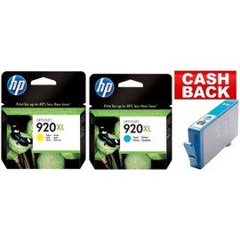 HP HP 920XL blauw & HP 920XL geel