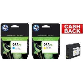 HP HP 953XL blauw & HP 953XL geel
