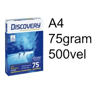 Discovery Halve pallet kopieerpapier Discovery A4 75gr wit 500vel