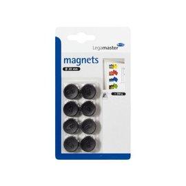 LegaMaster Magneet LegaMaster 20mm 250gr zwart 8stuks 7-181101-8