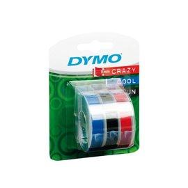Dymo Labeltape Dymo rol 9mmx3m glossy vinyl assorti