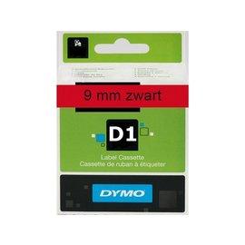 Dymo Labeltape Dymo 40917 d1 720720 9mmx7m zwart op rood