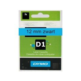 Dymo Labeltape Dymo 45016 d1 720560 12mmx7m zwart op blauw