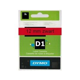Dymo Labeltape Dymo 45017 d1 720570 12mmx7m zwart op rood