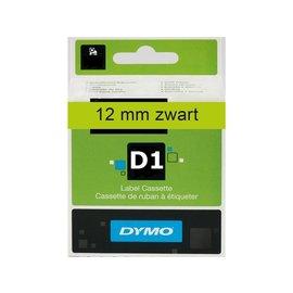 Dymo Labeltape Dymo 45019 d1 720590 12mmx7m zwart op groen