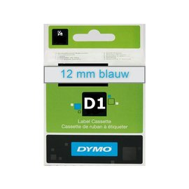 Dymo Labeltape Dymo 45011 d1 720510 12mmx7m blauw op transparant
