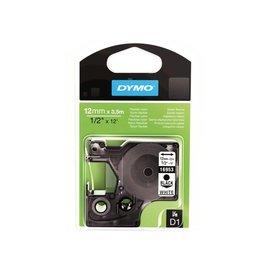 Dymo Labeltape Dymo 16957 d1 718040 12mmx3.5m nylon zwart op wit
