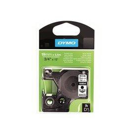 Dymo Labeltape Dymo 16958 d1 718050 19mmx3.5m nylon zwart op wit