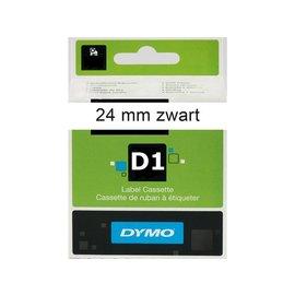 Dymo Labeltape Dymo 53713 d1 720930 24mmx7m zwart op wit