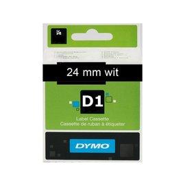 Dymo Labeltape Dymo 53721 d1 721010 24mmx7m wit op zwart