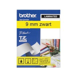 Brother Labeltape Brother p-touch tze621 9mm zwart op geel