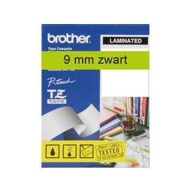 Brother Labeltape Brother p-touch tze721 9mm zwart op groen