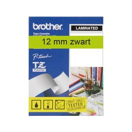 Brother Labeltape Brother p-touch tze731 12mm zwart op groen