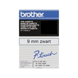 Brother Labeltape Brother p-touch tcm91 9mm zwart op transparant