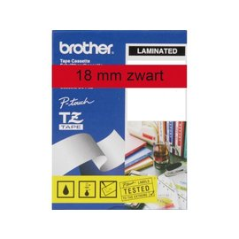 Brother Labeltape Brother p-touch tze441 18mm zwart op rood