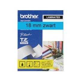 Brother Labeltape Brother p-touch tze541 18mm zwart op blauw