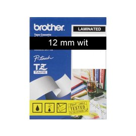 Brother Labeltape Brother p-touch tze335 12mm wit op zwart