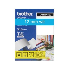 Brother Labeltape Brother p-touch tze535 12mm wit op blauw