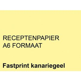 Fastprint Receptpapier Fastprint A6 80gr kanariegeel 2000vel
