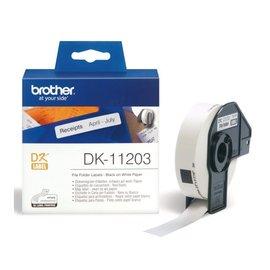 Brother Etiket Brother dk-11203 17x87mm archivering 300stuks