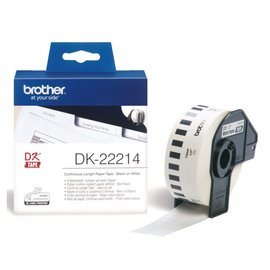 Brother Etiket Brother dk-22214 12mm thermisch 30-meter wit papier