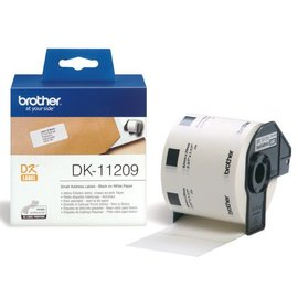 Brother Etiket Brother dk-11209 29x62mm klein adres 800stuks