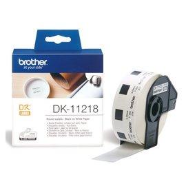Brother Etiket Brother dk-11218 24mm rond 1000stuks