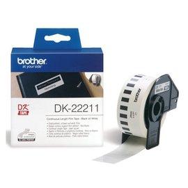 Brother Etiket Brother dk-22211 29mm 15-meter witte film