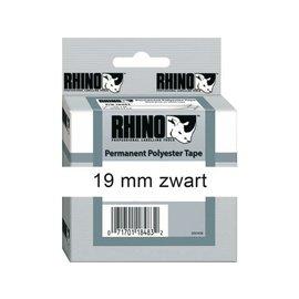 Dymo Labeltape Dymo rhino 18484 polyester 19mmx5.5m zwart op wt
