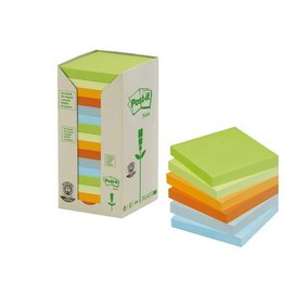 3M Post-it Memoblok 3M Post-it 654-1RPT 76x76mm 16 stuks recycled ass.