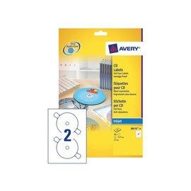 Avery Etiket Avery j8676-25 cd mat wit 50stuks