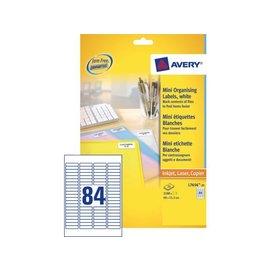 Avery Etiket Avery l7656-25 46x11.1mm wit 2100stuks