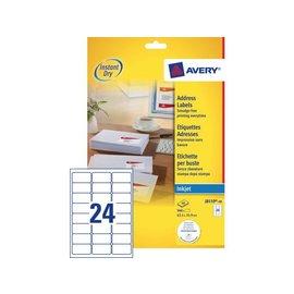 Avery Etiket Avery j8159-40 63.5x33.9mm wit 960stuks